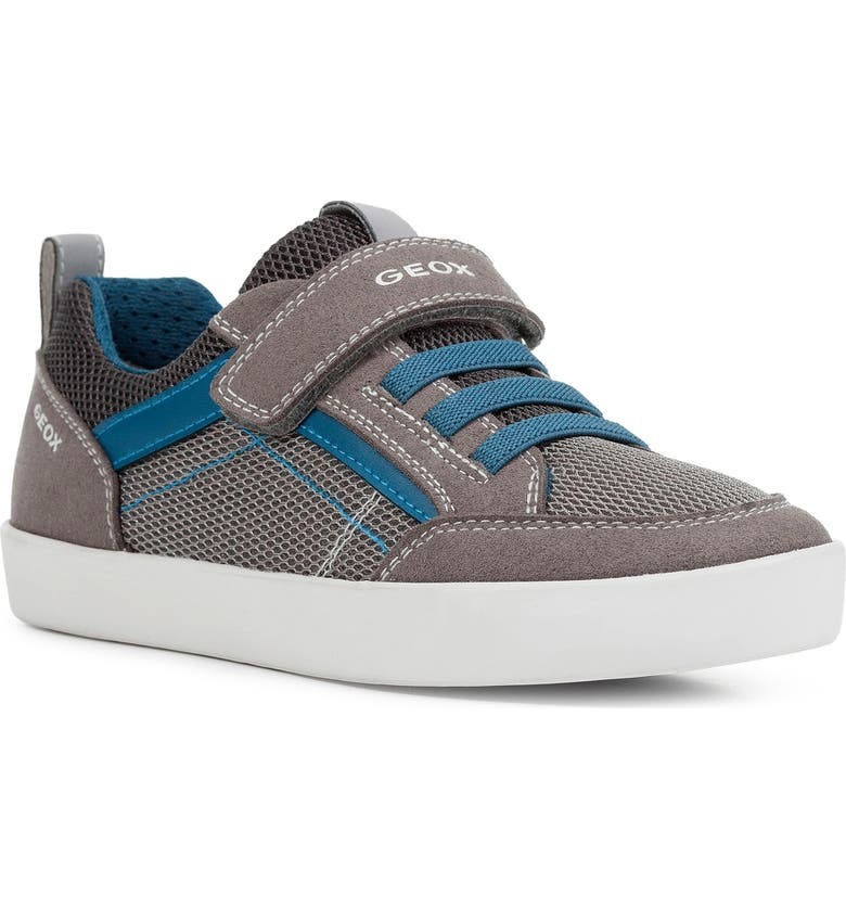 GEOX Kilwi 44 Sneaker, Main, color, GREY/ PETROL