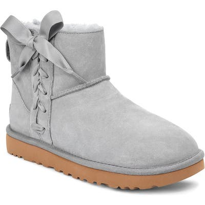 UGG Classic Lace-Up Mini Boot, Grey