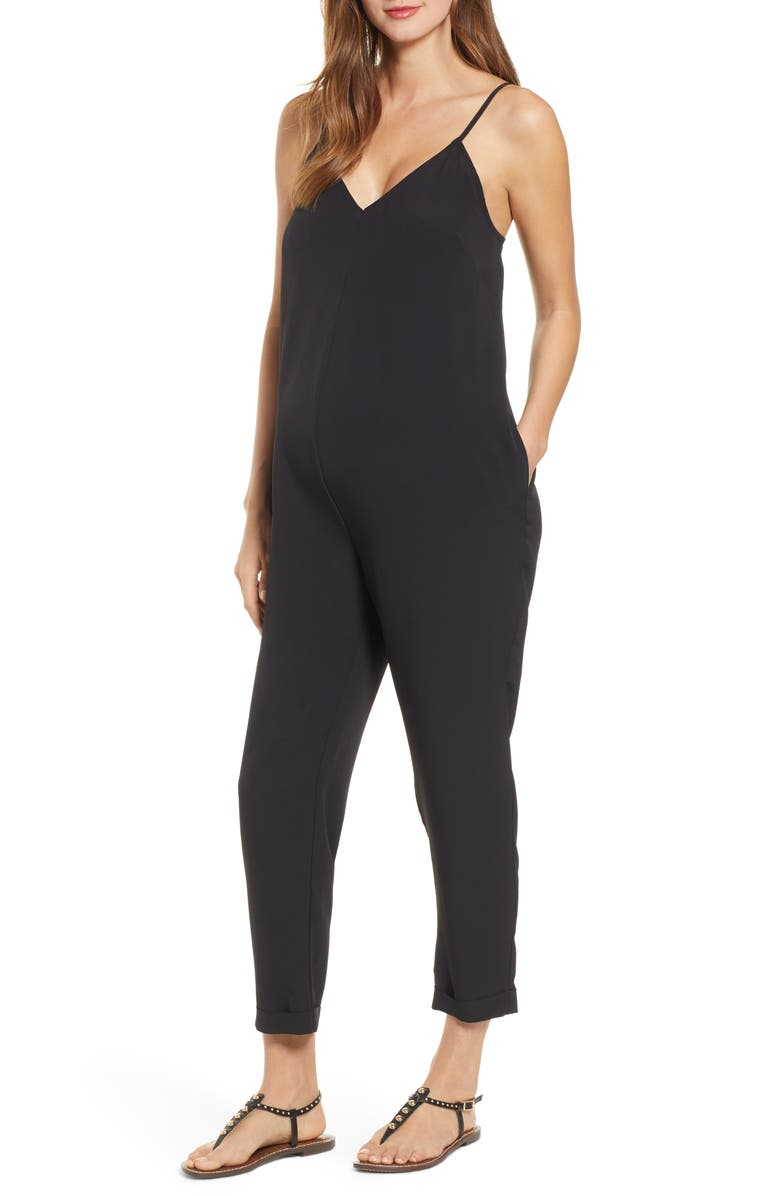HATCH Georgie Jumpsuit, Main, color, BLACK