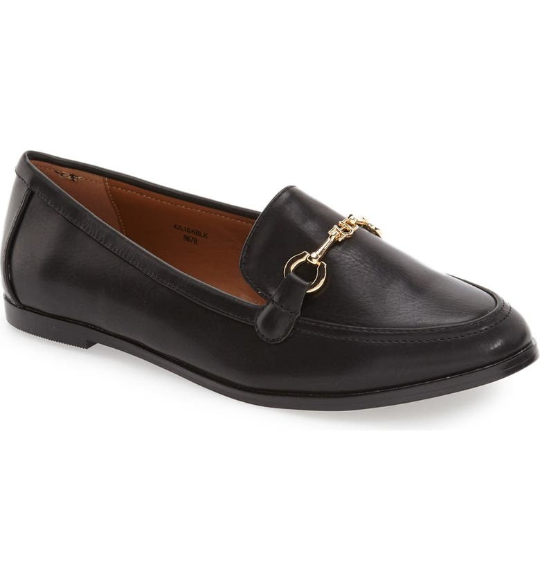 TOPSHOP 'Lucy' Bit Loafer, Main, color, 001