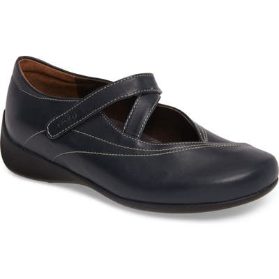 Wolky Passion Mary Jane Flat - Blue