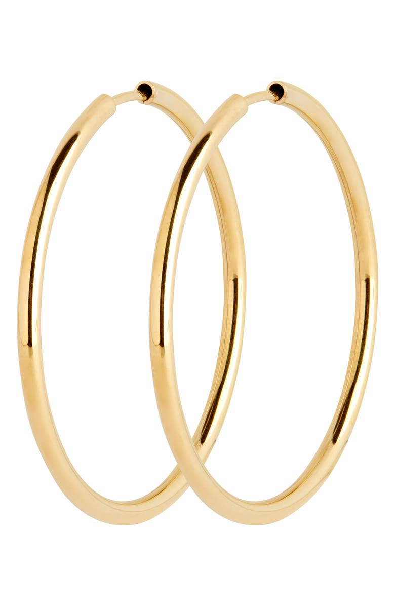MARIA BLACK Senorita 35mm Endless Hoop Earrings, Main, color, HIGH POLISHED GOLD