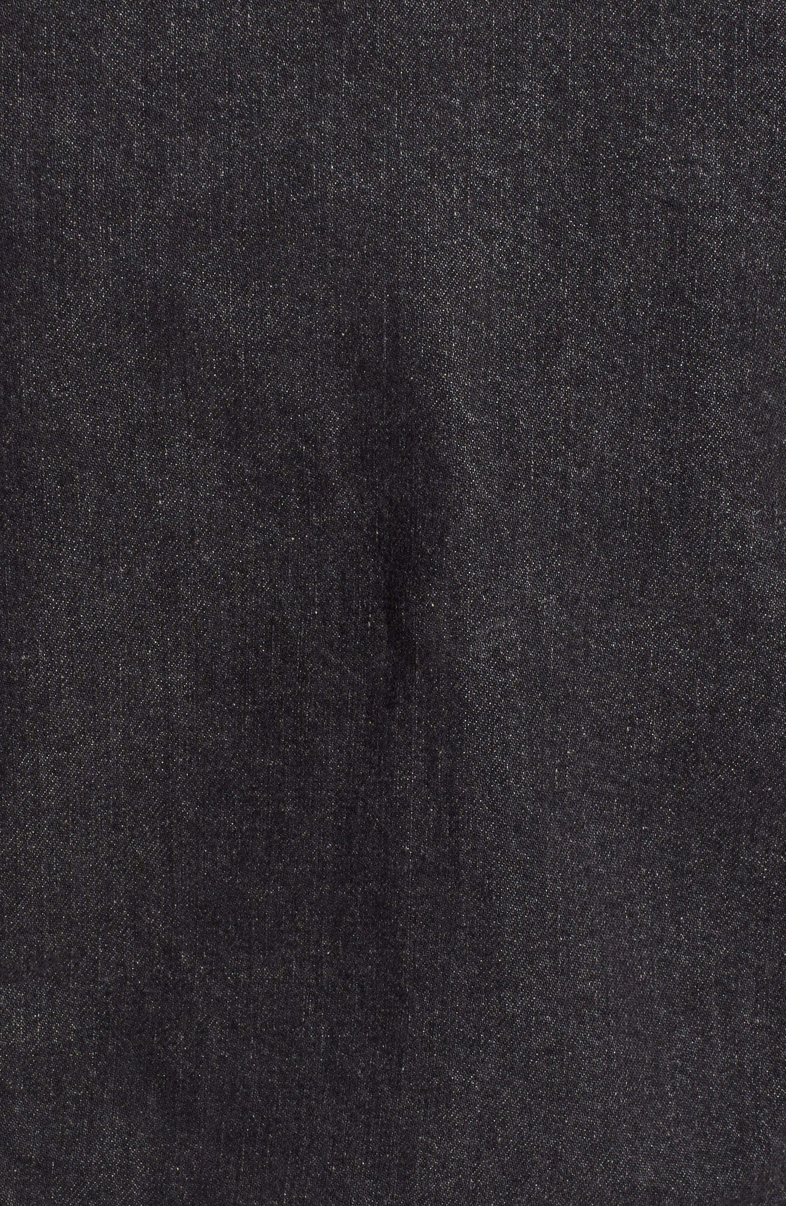 ,                             Trucker Denim Jacket,                             Alternate thumbnail 6, color,                             BLACK FEGIN