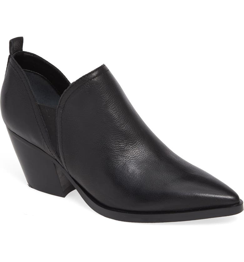 MARC FISHER LTD Dalaran Bootie, Main, color, BLACK LEATHER