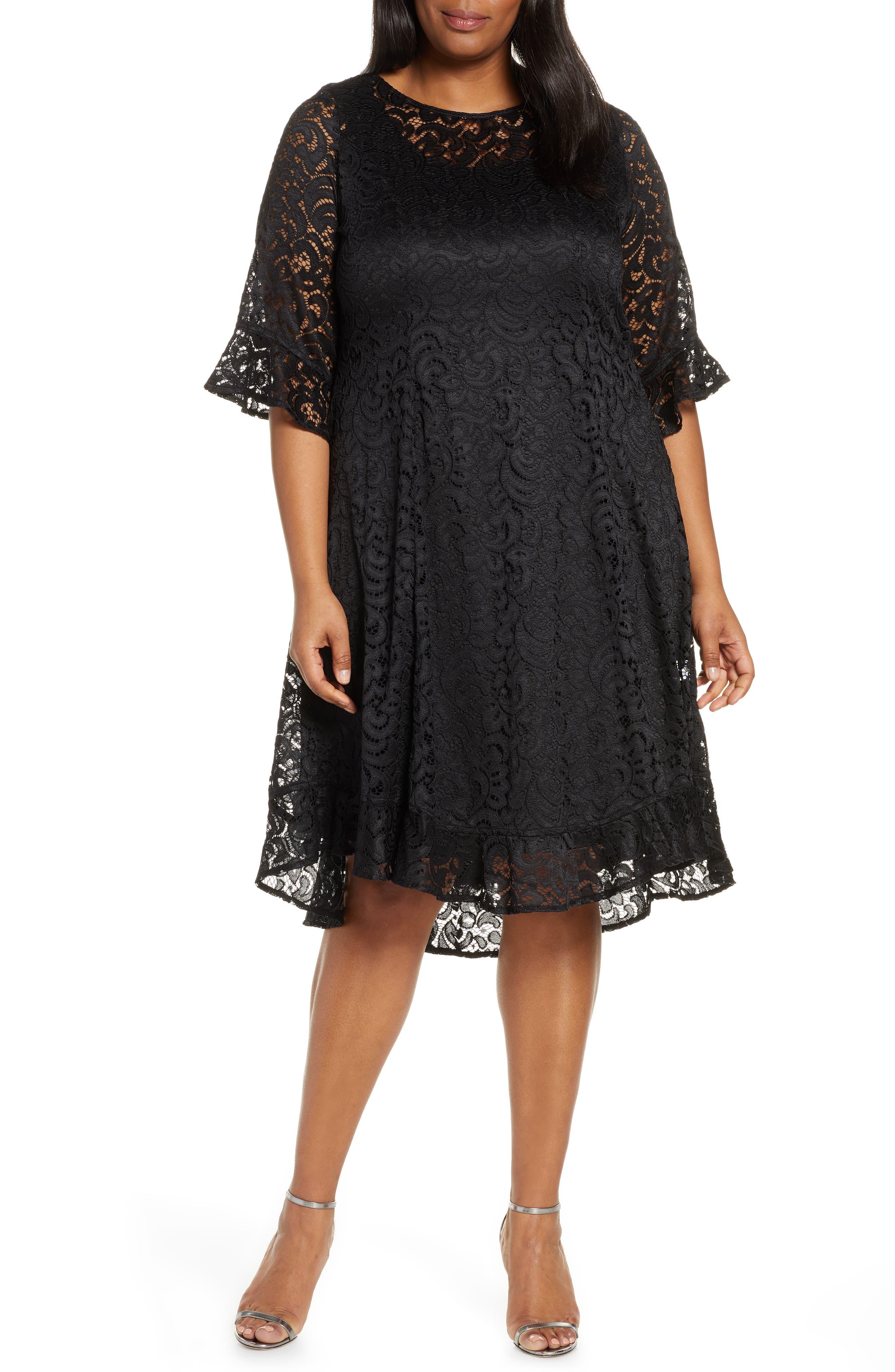 Plus Size Kiyonna Livi Lace Cocktail Dress, Black