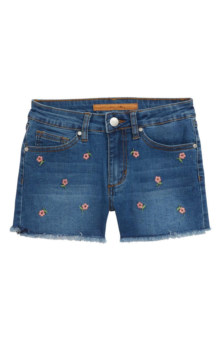 JOE'S The Kai Embroidered Flower Denim Shorts, Main, color, 472