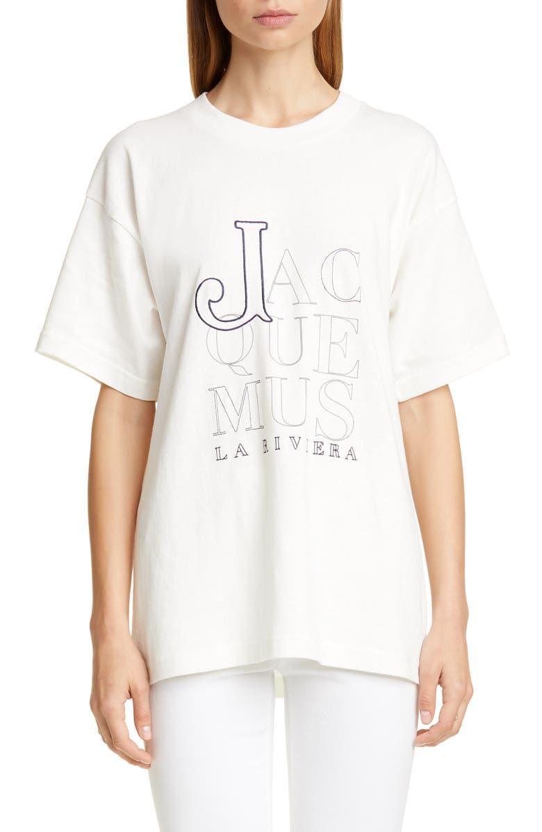 JACQUEMUS Le T-Shirt Riviera Cotton Tee, Main, color, 100
