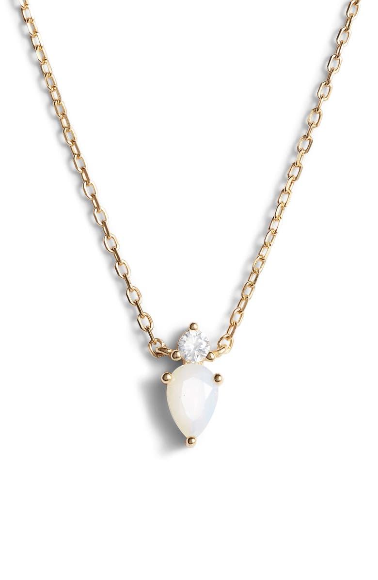 ARGENTO VIVO Sydney Pendant Necklace, Main, color, GOLD