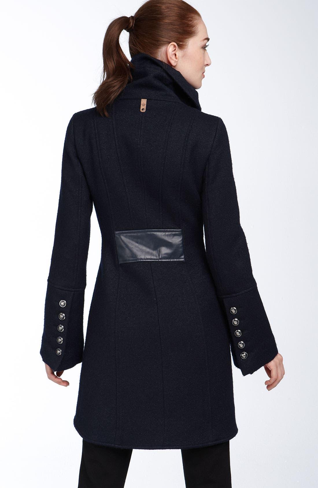 ,                             'Diana' Military Inspired Wool Blend Coat,                             Alternate thumbnail 4, color,                             404