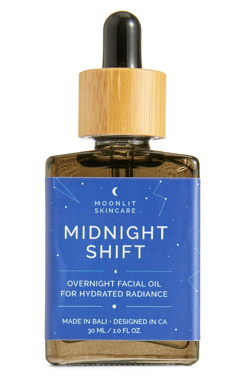 MOONLIT SKINCARE Midnight Shift Overnight Facial Oil, Main, color, NONE