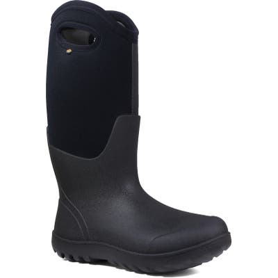 Bogs Neo Classic Tall Waterproof Rain Boot, Regular Calf- Black