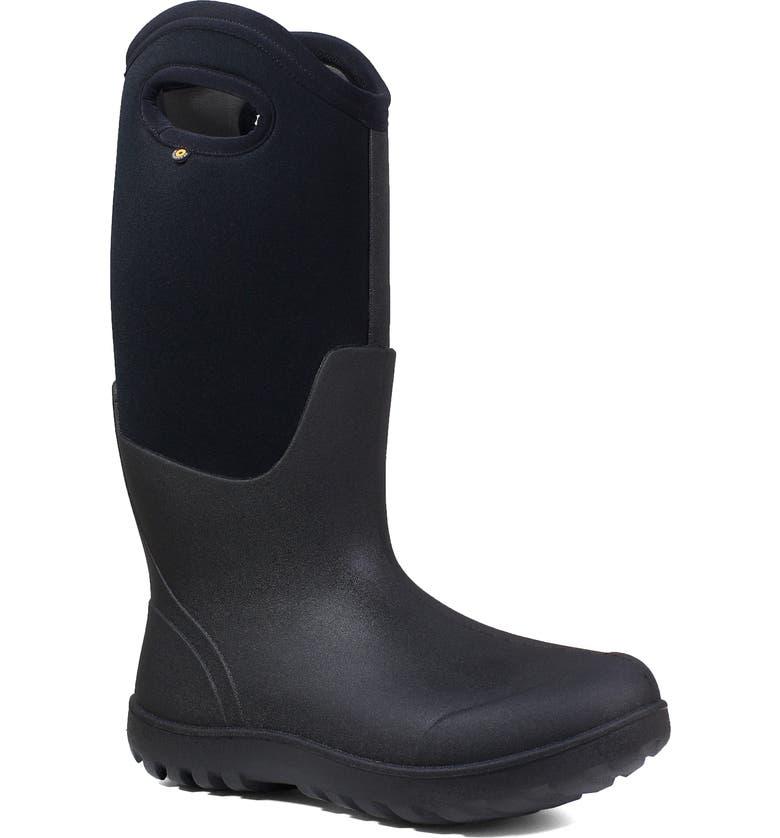 BOGS Neo Classic Tall Waterproof Rain Boot, Main, color, BLACK