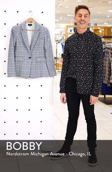 Plaid One-Button Blazer, sales video thumbnail