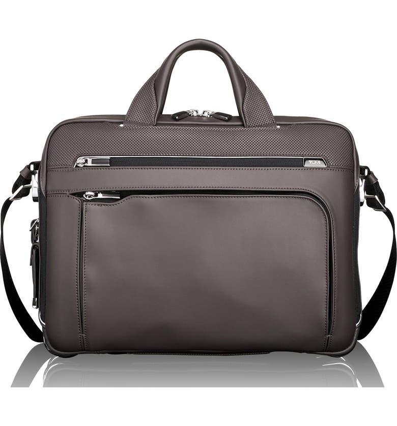 TUMI Arrivé - Sawyer Leather Briefcase, Main, color, 020