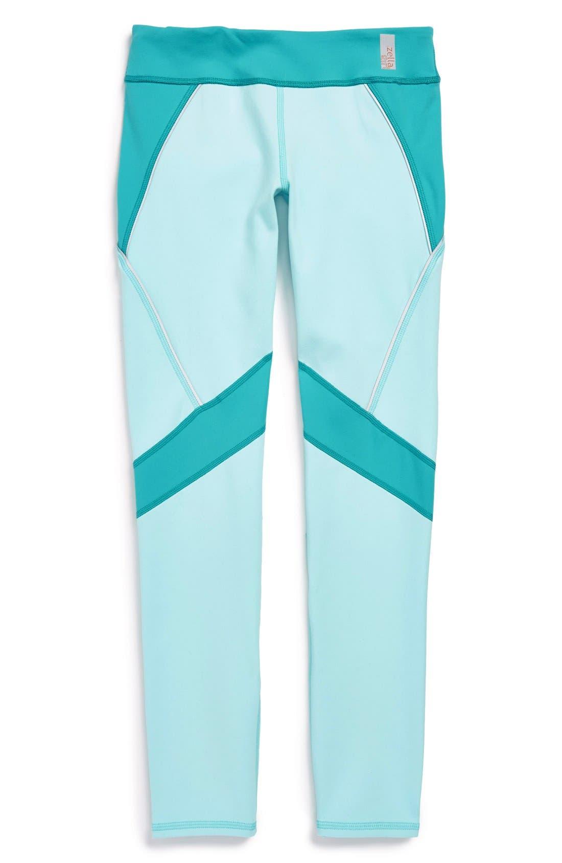 'Propulsion' Colorblock Leggings, Main, color, 420