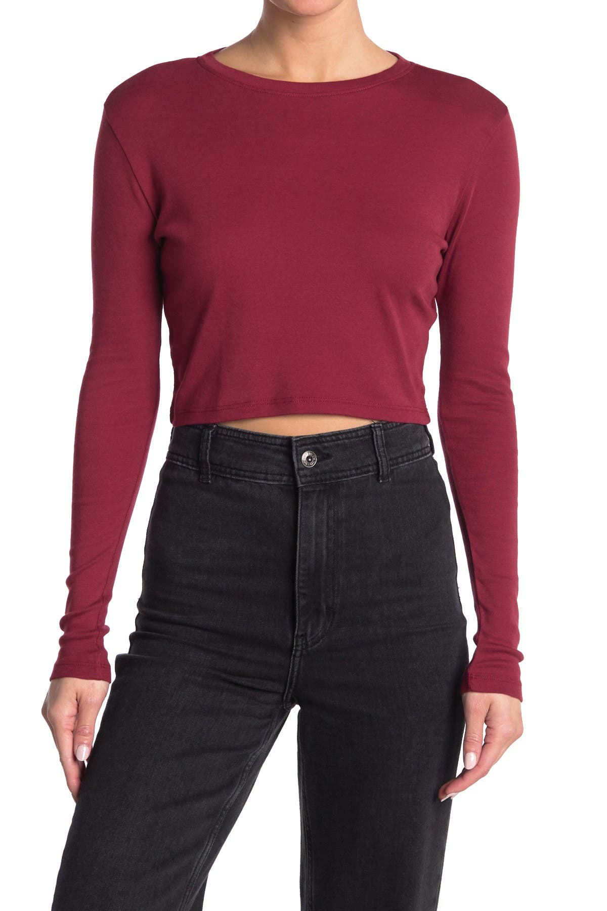 Image of Abound Cropped Long Sleeve Top