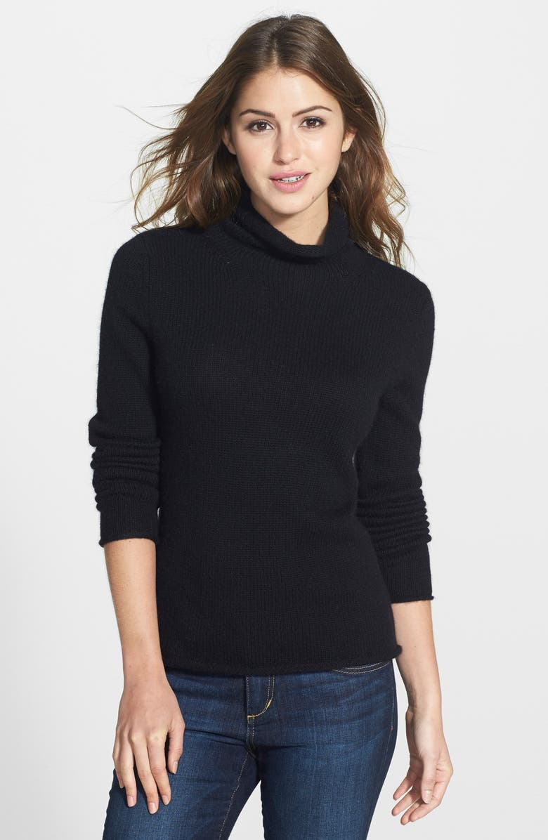 HALOGEN<SUP>®</SUP> Wool & Cashmere Turtleneck Sweater, Main, color, 001