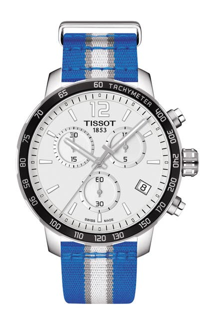 Image of Tissot Men's Quickster Chronograph NBA Dallas Mavericks Watch, 42mm
