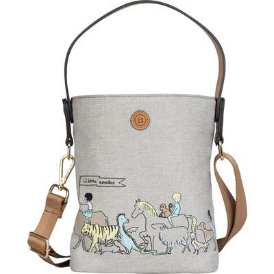 Infant Twelvelittle Sarah Jane Water Resistant Bottle Bag - Beige