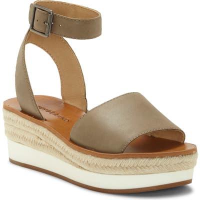 Lucky Brand Joodith Platform Wedge Sandal, Green