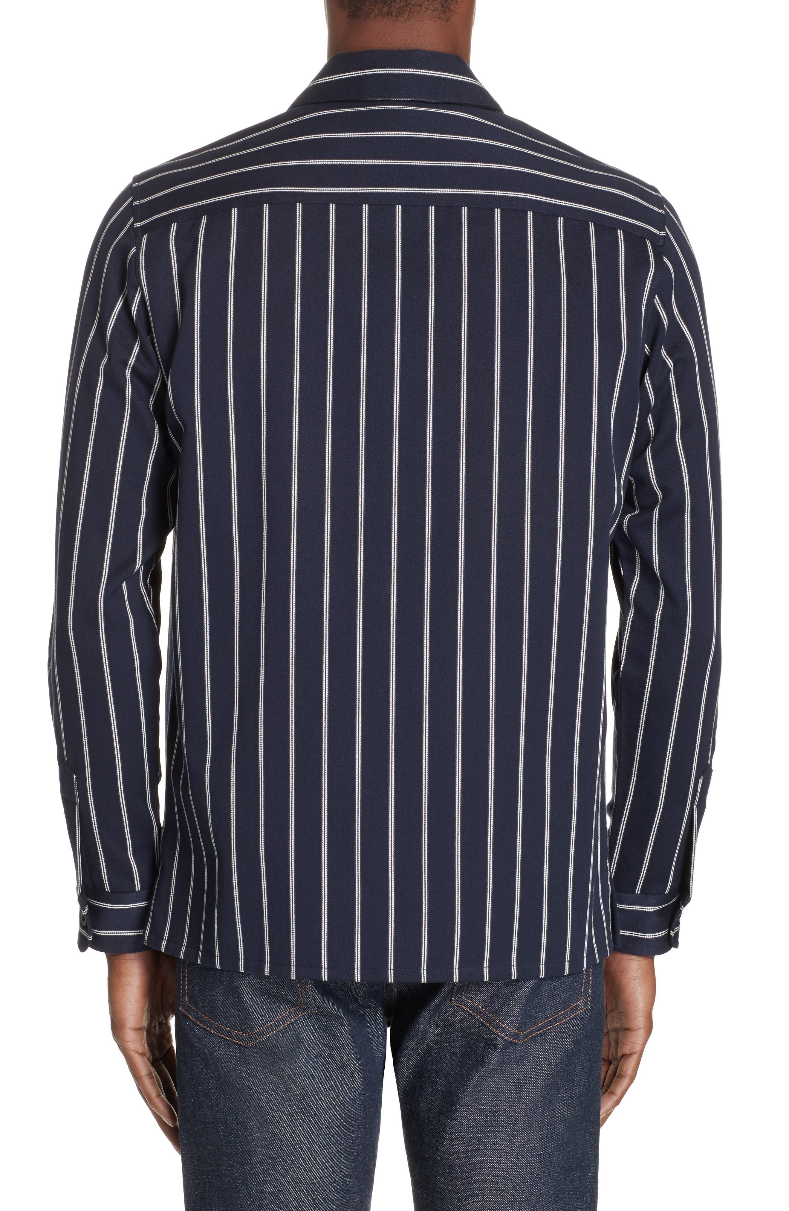 ,                             Mint Stripe Extra Slim Fit Sport Shirt,                             Alternate thumbnail 3, color,                             DARK NAVY
