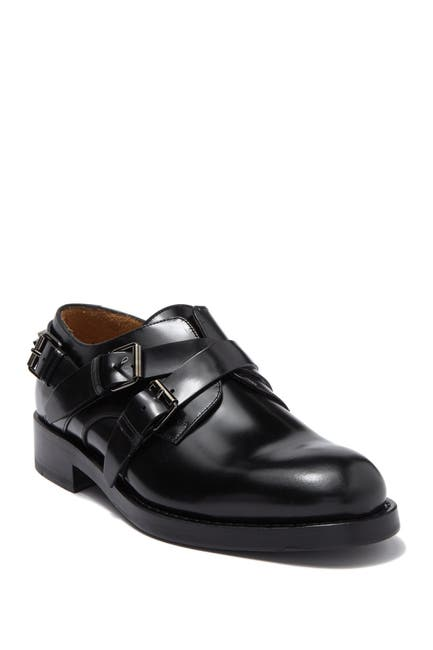 Image of Valentino Double Monk Strap Studded Loafer