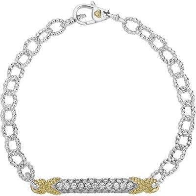 Lagos Caviar Lux Diamond Pave Link Bracelet