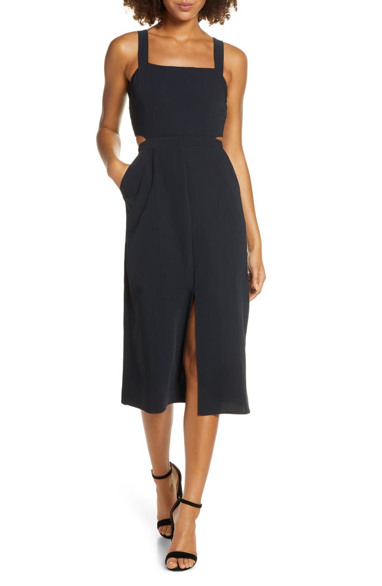 ALI & JAY Standard Sundays Midi Dress, Main, color, BLACK