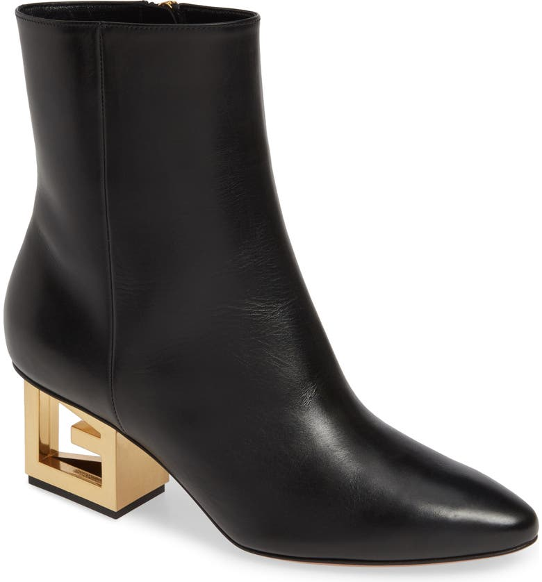 GIVENCHY Triangle Heel Ankle Boot, Main, color, 001