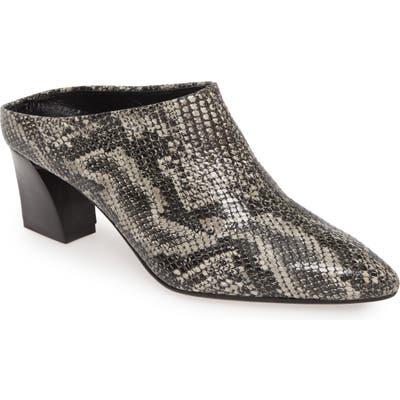 Agl Pointy Toe Mule - Grey