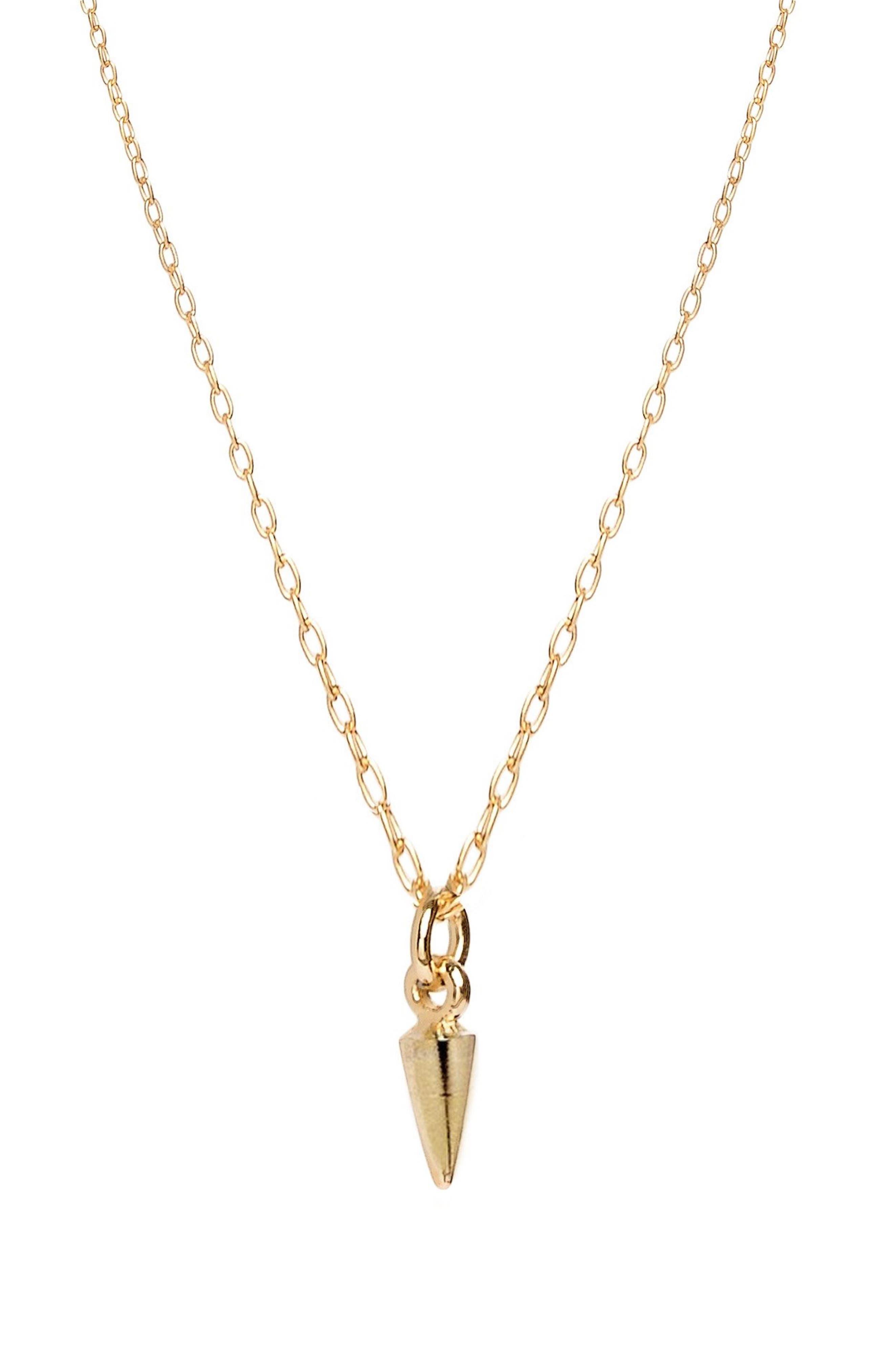 Tiny Bullet Pendant Necklace
