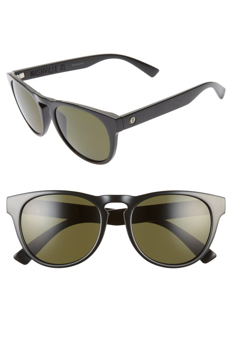 ELECTRIC Nashville XL 49mm Polarized Sunglasses, Main, color, GLOSS BLACK/ GREY
