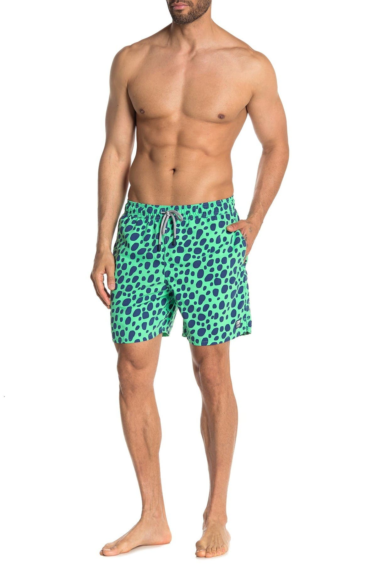 Image of Tom & Teddy Spot Print Swim Trunks