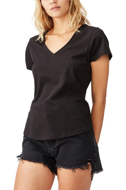 Image of Cotton On The One Fitted V T-Shirt