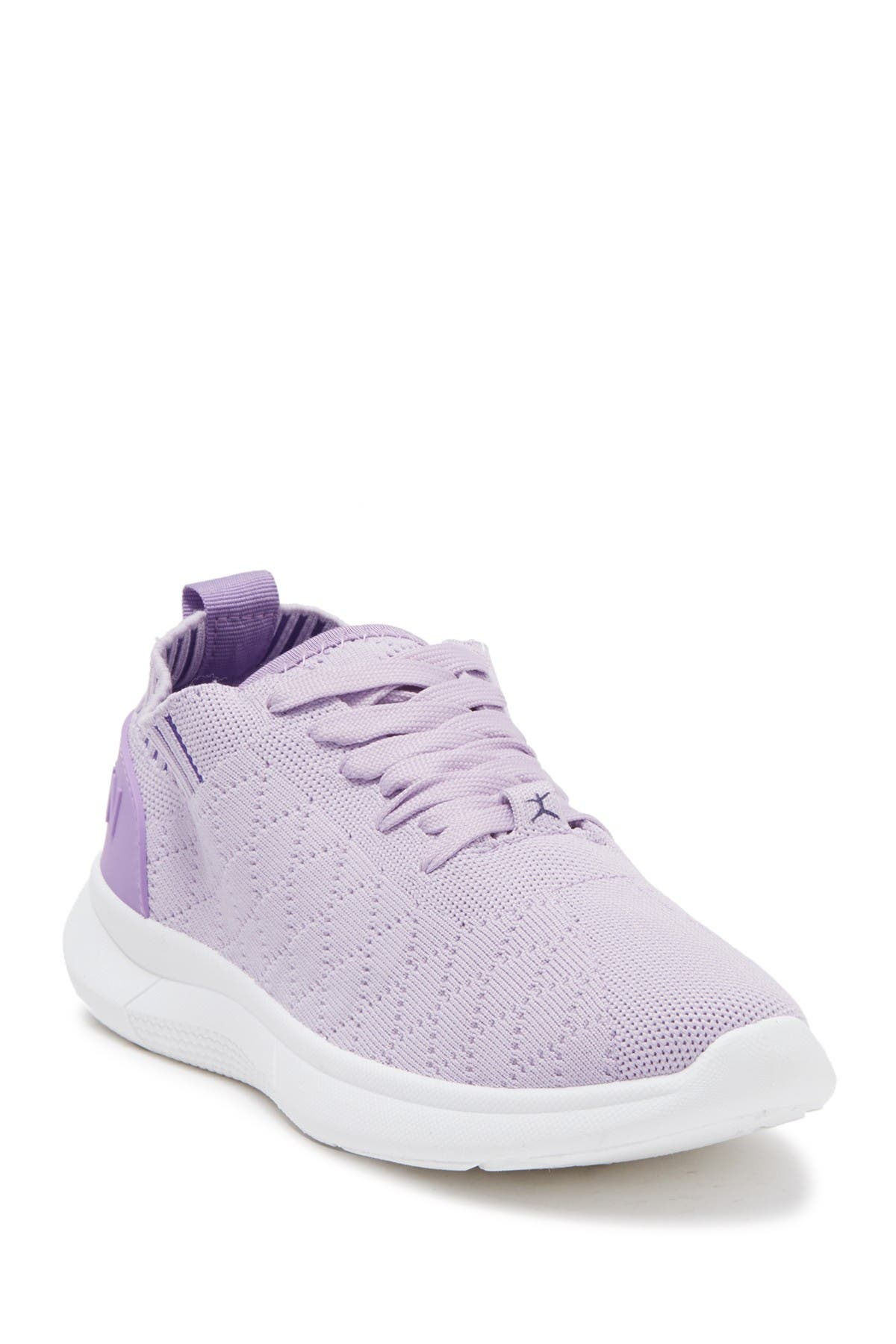 Image of DANSKIN Diamond Quilted Sock Knit Lace-Up Sneaker