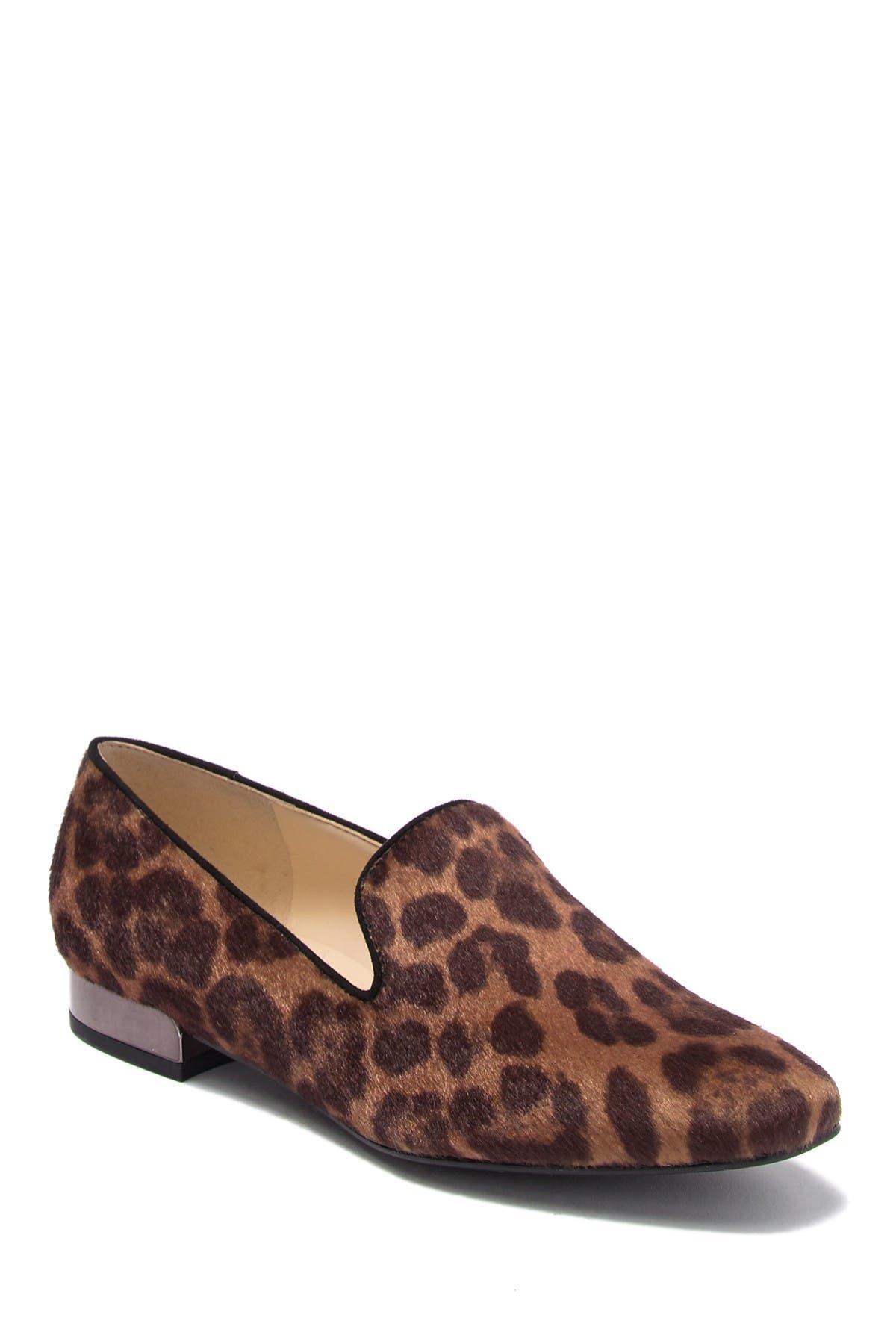 Lisette Faux Fur Leopard Print Loafer