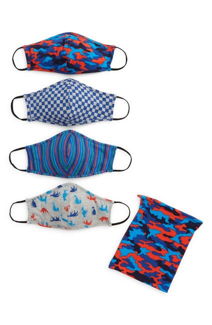 Image of Tucker + Tate Assorted 4-Pack Kids' Print Face Masks