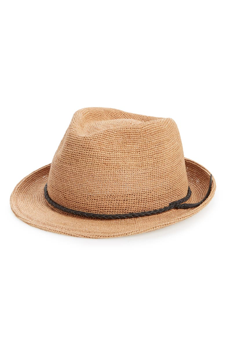 GOORIN BROS. Morning Glory Trilby, Main, color, TAN