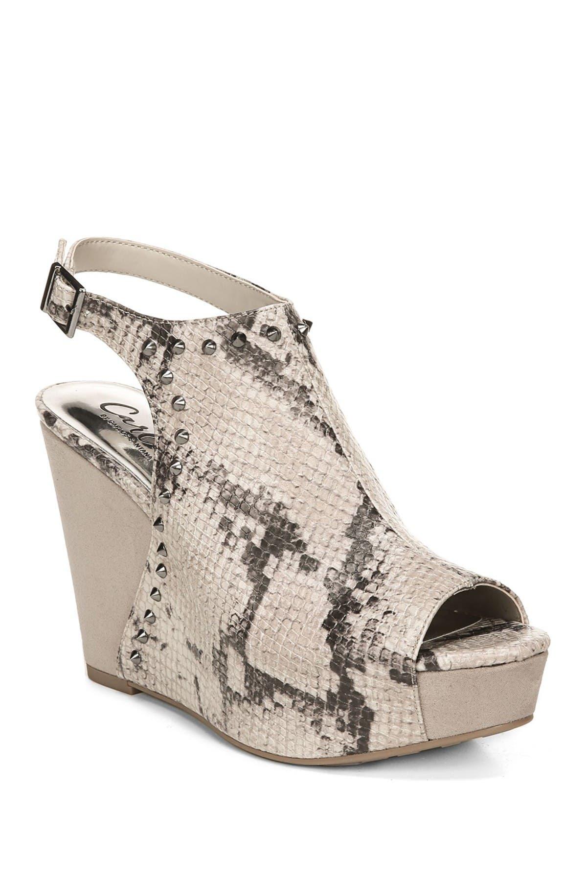 Marcia Snake Print Wedge Sandal