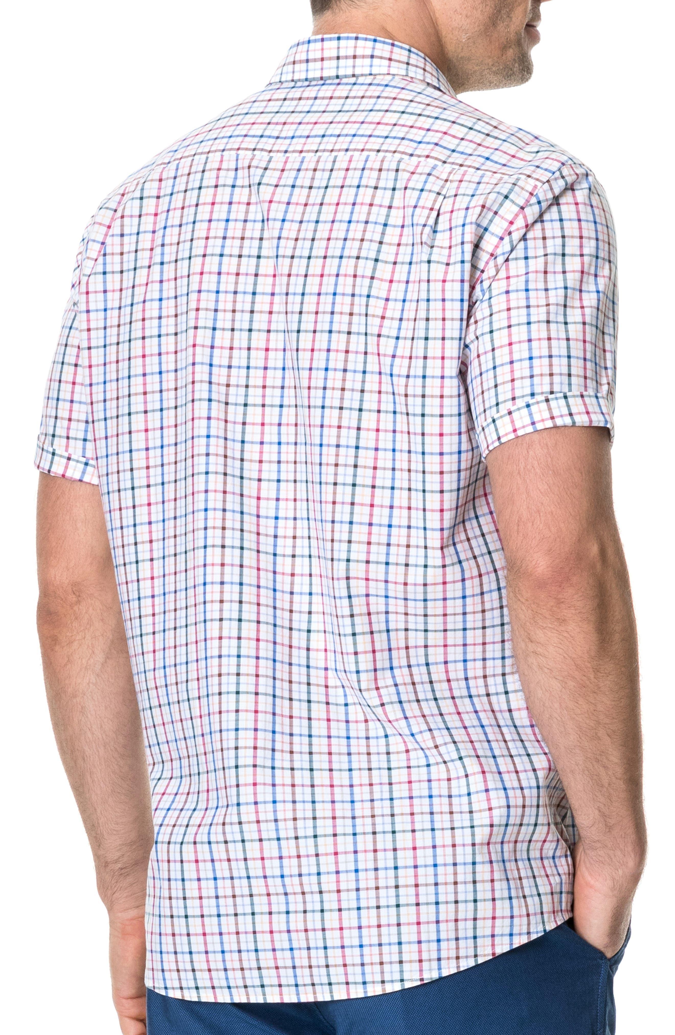 ,                             Wilder Regular Fit Check Sport Shirt,                             Alternate thumbnail 2, color,                             CORAL REEF