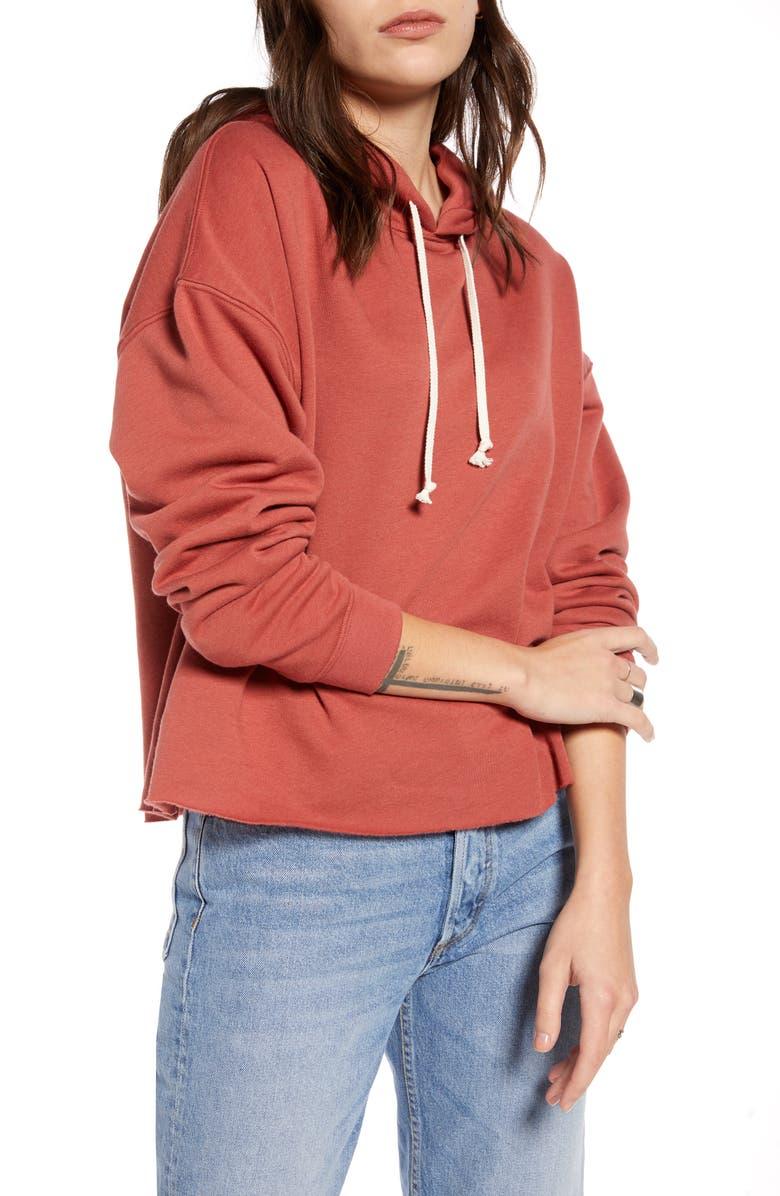 TREASURE & BOND Pullover Hoodie, Main, color, RUST MARSALA