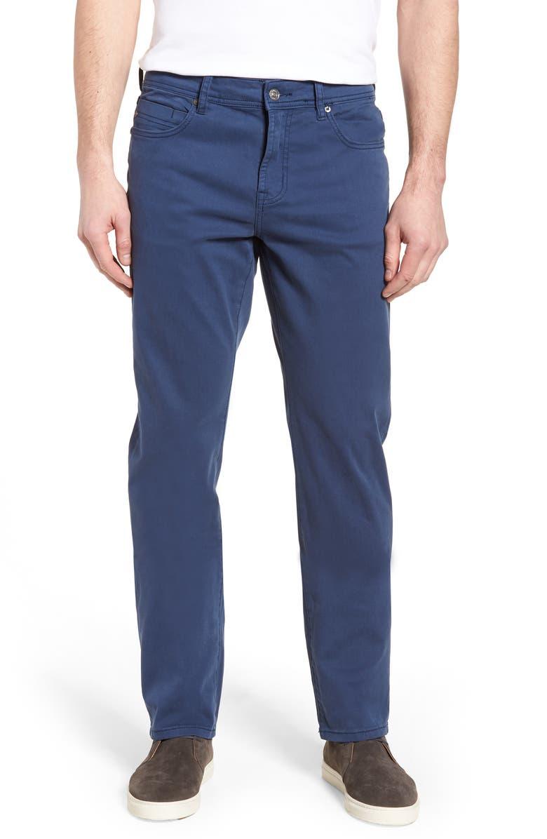 LIVERPOOL Regent Straight Leg Twill Pants, Main, color, BLUE TWILIGHT