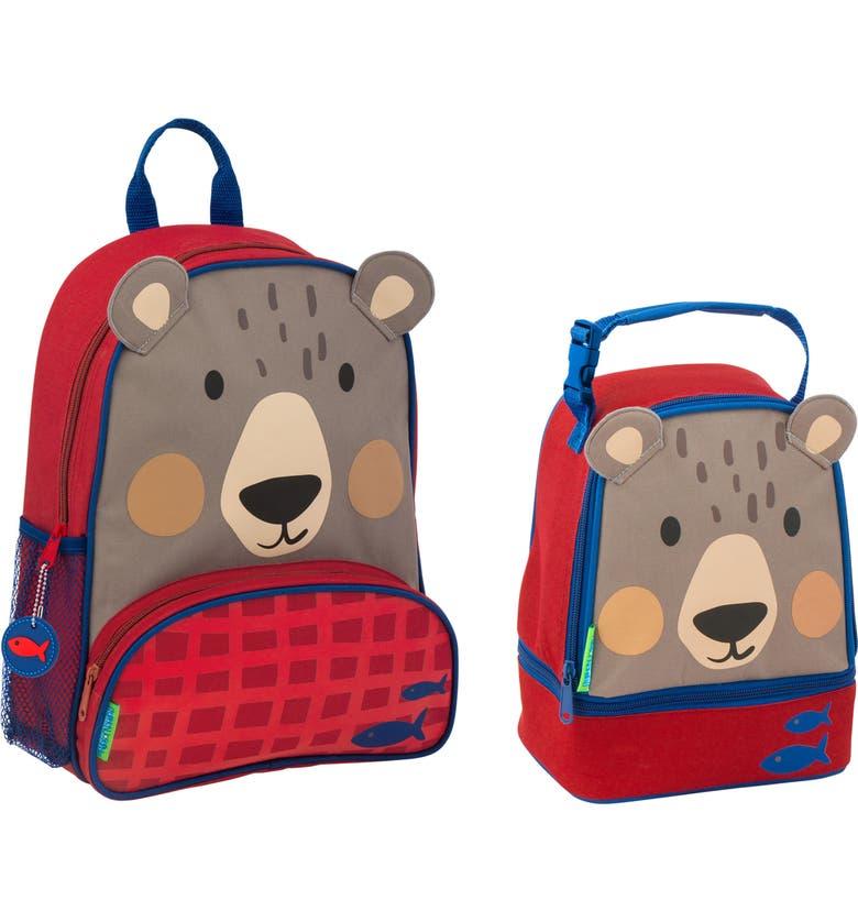 STEPHEN JOSEPH Shark Sidekick Backpack & Lunch Pal, Main, color, BEAR