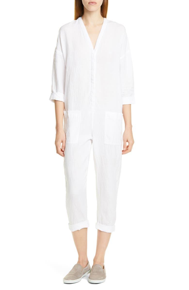 Linen Canvas Jumpsuit by James Perse