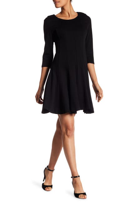 Image of Papillon 3/4 Sleeve Fit & Flare Sweater Dress