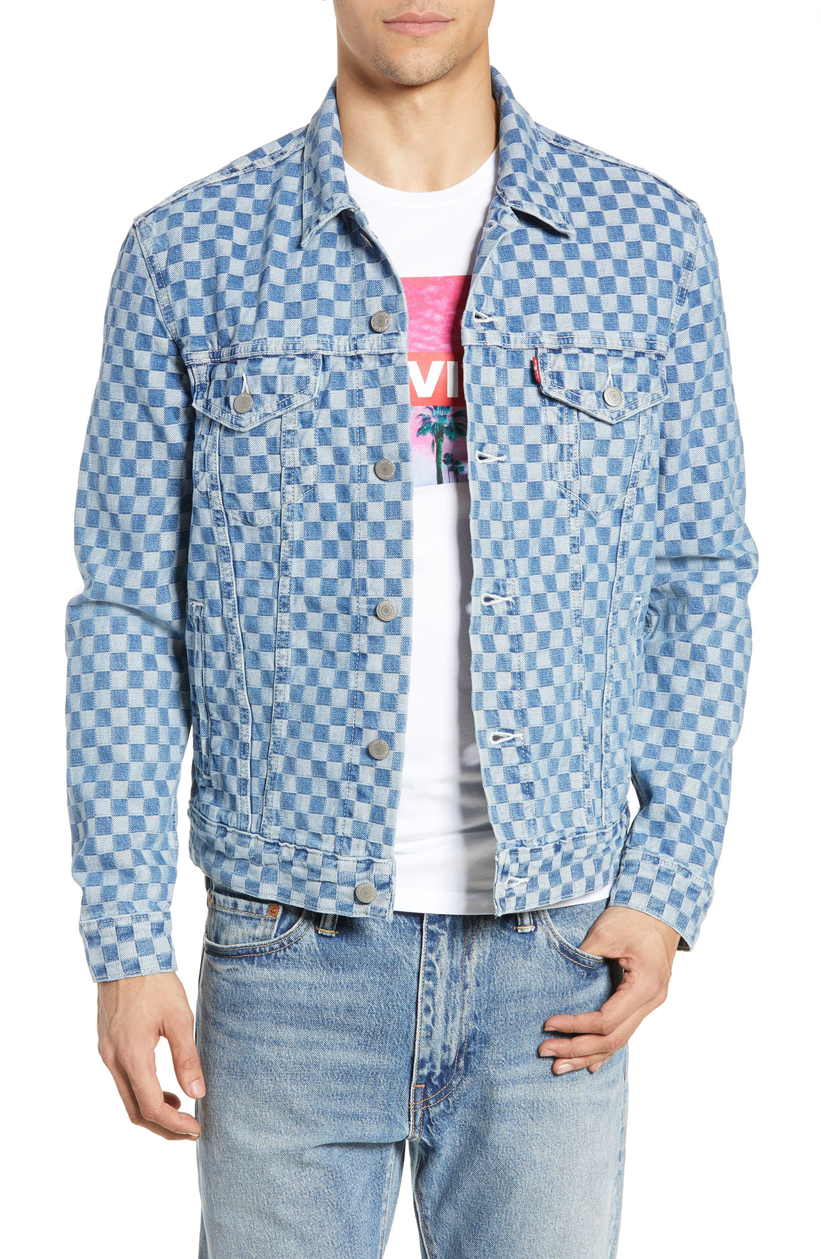 ,                             Checker Trucker Jacket,                             Main thumbnail 1, color,                             CHECKMATE