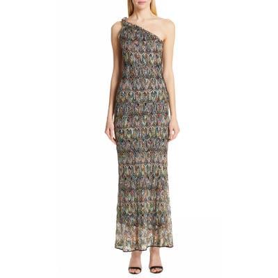 Missoni One-Shoulder Pointelle Maxi Dress, US / 40 IT - Black