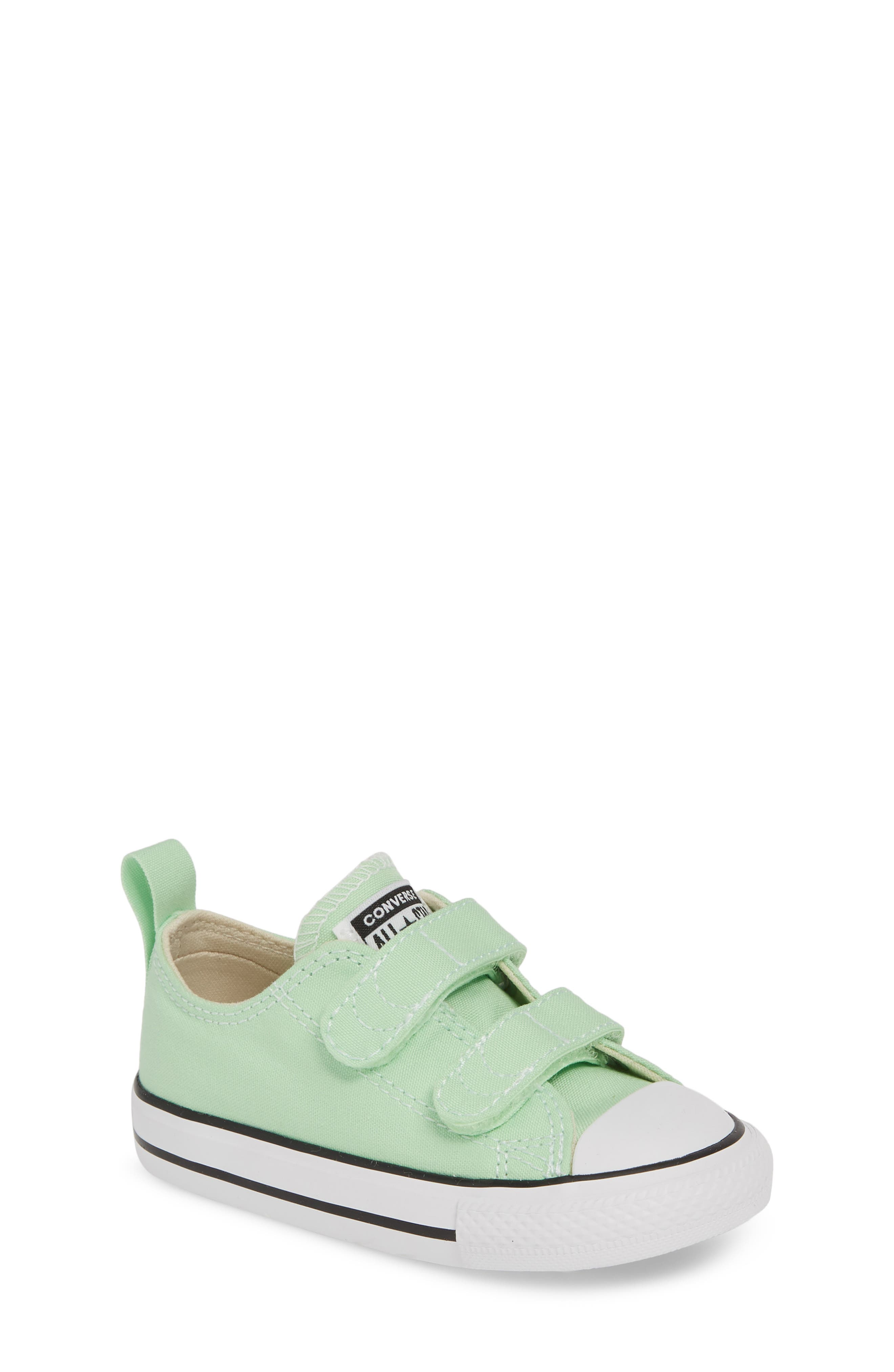 ,                             Chuck Taylor<sup>®</sup> 'Double Strap' Sneaker,                             Main thumbnail 1, color,                             LT. APHID GREEN