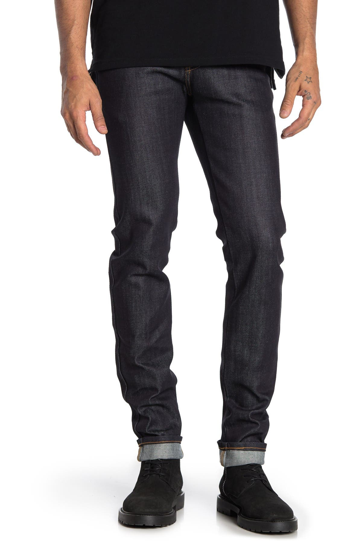 Image of Naked and Famous Super Guy Button Fly Skinny Jeans
