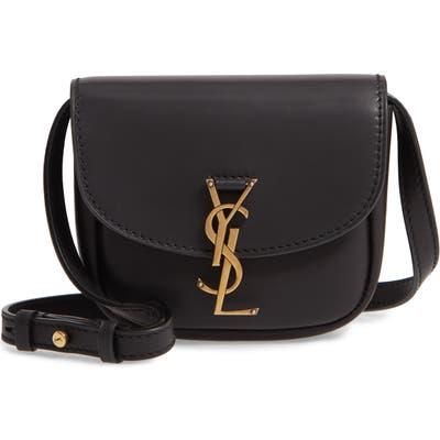 Saint Laurent Small Kaia Leather Crossbody Bag - Black